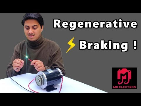 What's Regenerative Braking ? DIY 24V DC Motor to 500W Generator 26 Amps