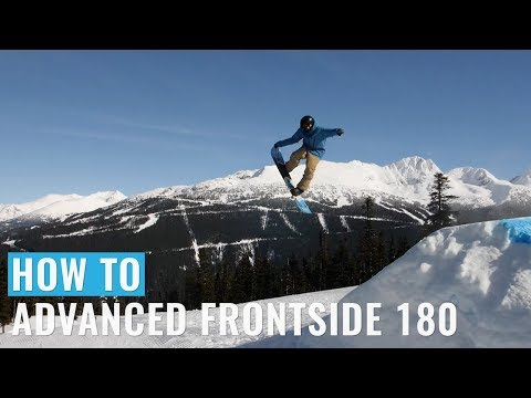 How To Advanced Frontside 180 On A Snowboard