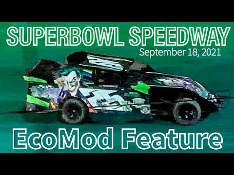 EcoMod Feature - Superbowl Speedway - September 18, 2021 - Greenville, Texas - dirt track racing video image