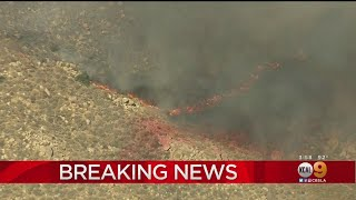 Fast-Moving Brush Fire Erupts In Lake Elsinore