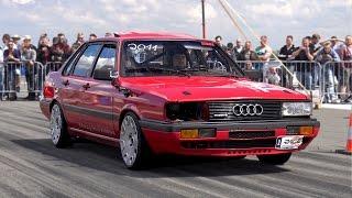 800HP+ Audi 90 Typ 85 GTX35TTH Turbo Half Mile @ 275km/h