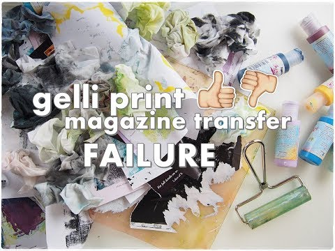 🖌 FAILURE on Gelli Print Magazine Transfer ♡ Maremi's Small Art ♡