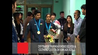 Divyansh Panwar Wins Silver & Olympic Quota In 10m Air Rifle