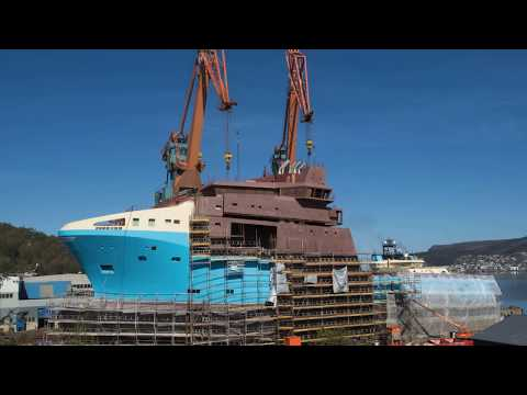 Kleven - the building of build no 386 for Maersk Supply Service