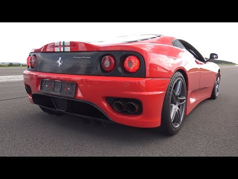 Novitec Rosso Ferrari 360 Challenge Stradale – Start up, Revs, Drag Race!