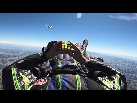 GoPro Awards: Rubik's Cube Challenge - Skydiving