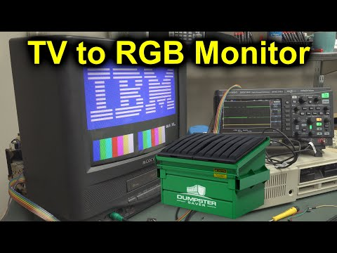 EEVblog #1246 - Dumpster TV to Retro RGB Monitor Conversion - UC2DjFE7Xf11URZqWBigcVOQ