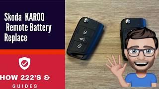 Cambiare batteria chiave Skoda Kamiq