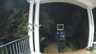 Man Wearing TV On HIs Head Leaves 50+ TVs On Doorsteps