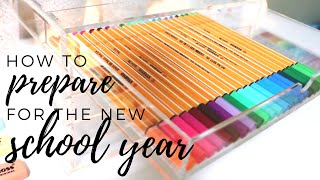 How to prepare for the new school year ✨ back to school 2019