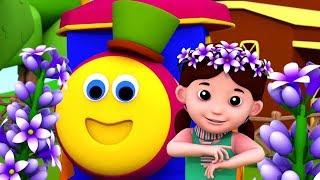 Лавандовый синий Дилли Дилли | песня для детей | Lavender's Blue Dilly Dilly | Bob The Train Rhyme