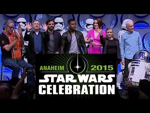 Star Wars The Force Awakens Celebration Panel - Oscar Isaac, Daisy Ridley, John Boyega, BB-8 Droid - UCS5C4dC1Vc3EzgeDO-Wu3Mg