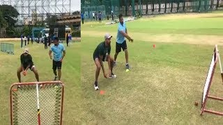 Shikhar Dhawan Practice Catches For His Next West Indies Series