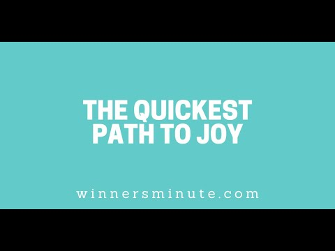 The Quickest Path to Joy // The Winner's Minute With Mac Hammond