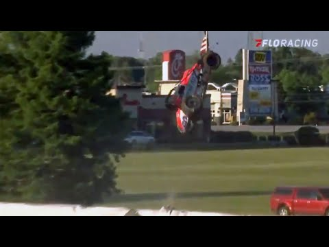 Brady Bacon Flips Out Of The Park At Terre Haute Action Track - dirt track racing video image