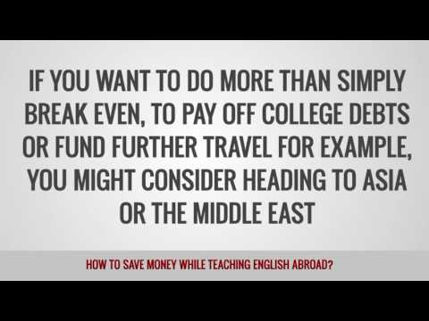 video on how to save money while teaching abroad
