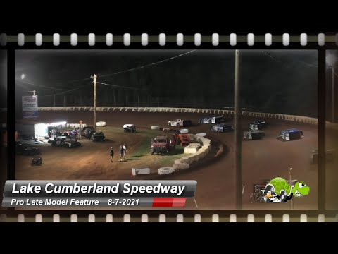 Lake Cumberland Speedway - Pro Late Model Feature - 8/7/2021 - dirt track racing video image