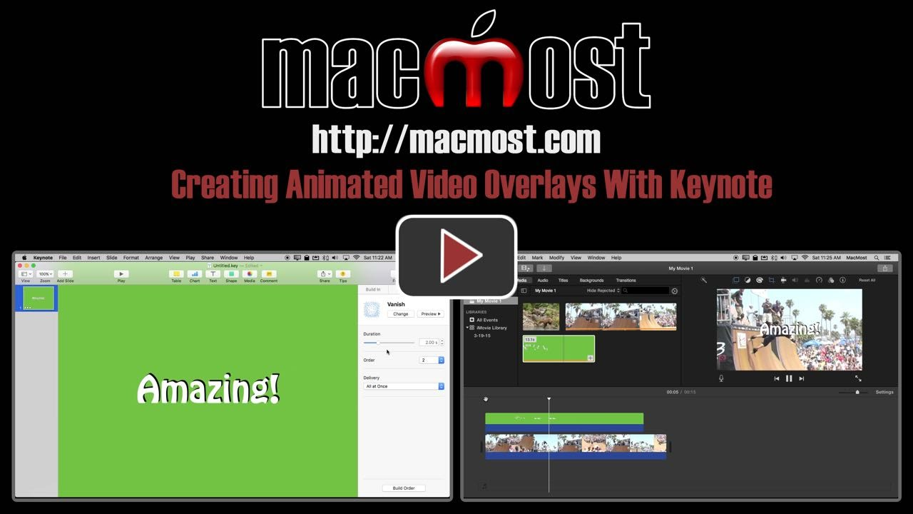 Creating Animated Video Overlays With Keynote Macmost