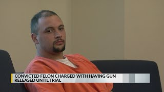 Judge releases convicted felon accused of possessing a gun