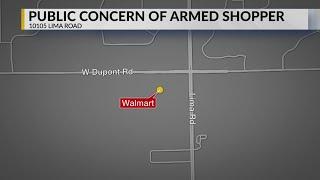 Lima Road Walmart armed shopper
