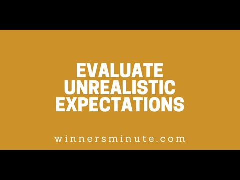 Evaluate Unrealistic Expectations // The Winner's Minute With Mac Hammond