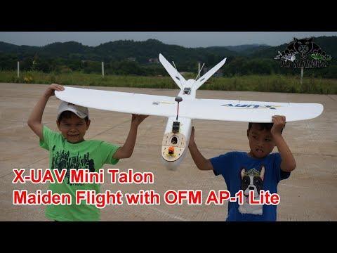 Mini Talon Long Range FPV Plane Maiden Flight OFM AP-1 Lite Autopilot - UCsFctXdFnbeoKpLefdEloEQ