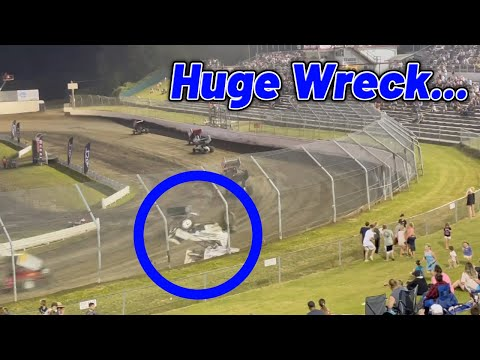 Tanner Holmes Skagit Speedway Dirt Cup Crash....(Grandstands View) - dirt track racing video image