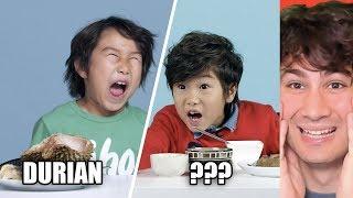 Reacting To American Kids Trying Jollibee and Filipino Food