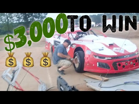 $3000 TO WIN STREET STOCK RACE  - dirt track racing video image