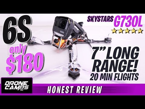 "6S LONG RANGE FPV 7"" Quad for $180 - SKYSTARS G730L - Honest Review & Flights - UCwojJxGQ0SNeVV09mKlnonA"