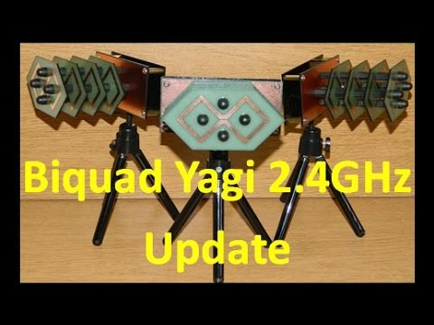 Biquad Yagi 2 4GHz Updates to the Construction and PCBway