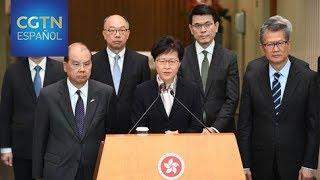 Carrie Lam inspecciona proyectos públicos en el distrito de Tin Shui Wai de la RAE de Hong Kong