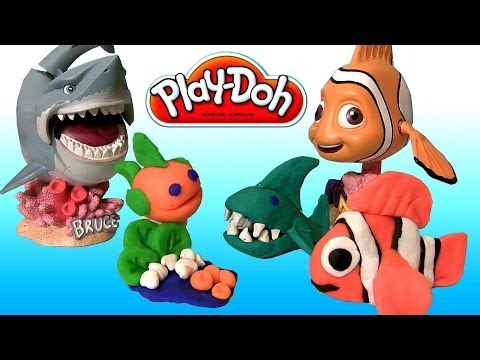 Play Doh Makeables Sea Life Pixar Finding Nemo Shark Bruce Turtle Disneyplaydough by Disneycollector - UCqdGW_m8Rim4FeMM29keDEg