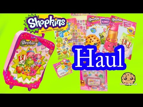 Shopkins HAUL - Suitcase of a Season 4 12 Pack, Stickers, Books + more - Unboxing Vid Cookieswirlc - UCelMeixAOTs2OQAAi9wU8-g