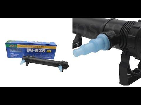 UV Sterilizer Lamp Light Ultraviolet Filter Clarifier Water Cleaner For Coral Koi Fish Pond Aquarius