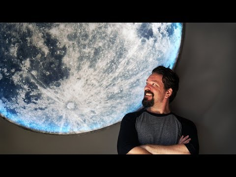 How To Make Giant DIY Moon Wall Art - no power tools, under $100 - UChtY6O8Ahw2cz05PS2GhUbg