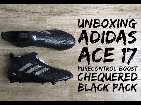 ca6ac63af285 Adidas ACE 17+ Purecontrol Boost  CHEQUERED BLACK PACK