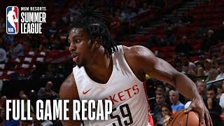 JAZZ vs ROCKETS | Chris Clemons' Strong Effort Leads Houston | MGM Resorts NBA Summer League
