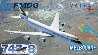 PMDG 747-8F on Vatsim Milkrun Monday, Sydney to Melbourne