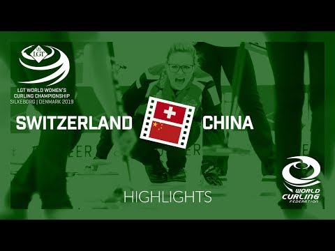 HIGHLIGHTS: Switzerland v China - qualification - LGT World Women's Curling Championship 2019