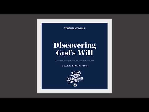 Discovering Gods Will - Daily Devotion