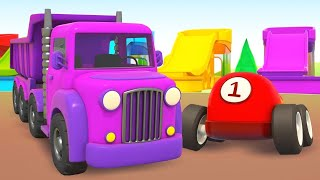 Helper Cars for Kids Learn Colors for Children: Street Vehicles Trucks & Race Cars
