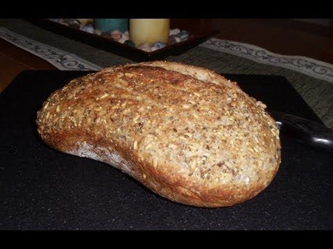 No-Knead Harvest 8 Grain Wheat Bread (Easy... No Mixer... No Yeast Proofing)