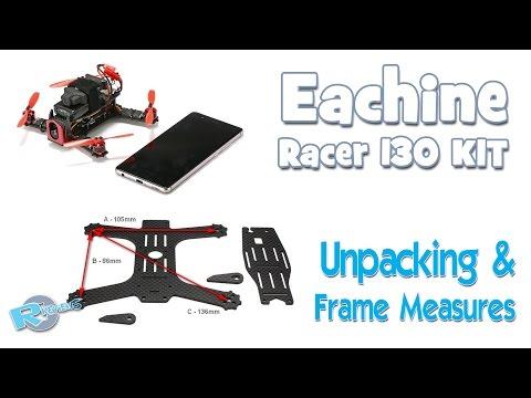 Eachine Racer 130mm Frame KIT - unpacking & measures - default
