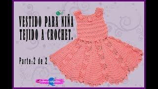 94c6ff367 YouTube | Vestido Para Niña Tejido A Crochet. Parte: 1 De 2 ...