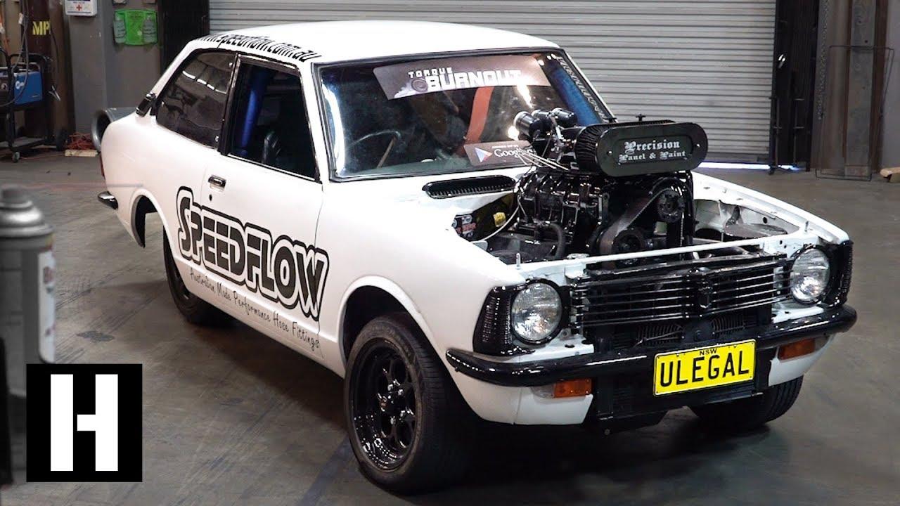 200mph Wheel Speed Burnout car: 600hp Methanol V8 ULEGAL