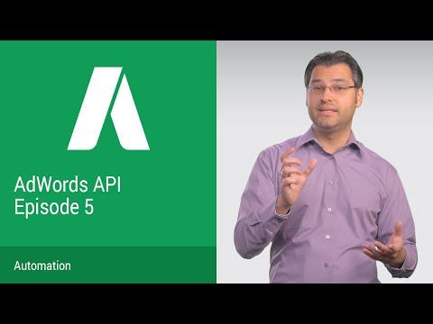 AdWords API DevBytes Episode 5: Automation - UC_x5XG1OV2P6uZZ5FSM9Ttw