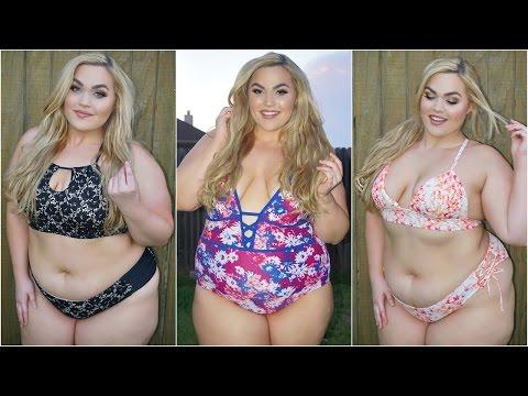 5f8e00efe73e9 Plus Size Bikinis   Lingerie Haul + Try-On