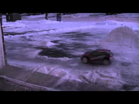Traxxas Rally VXL Playing in Snow - shawnroy81