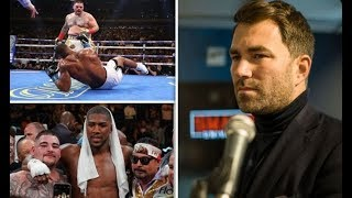 EDDIE HEARN STATES ANDY RUIZ JR HAS NO SAY IN MONEY OR VENUE FOR ANTHONY JOSHUA REMATCH!!